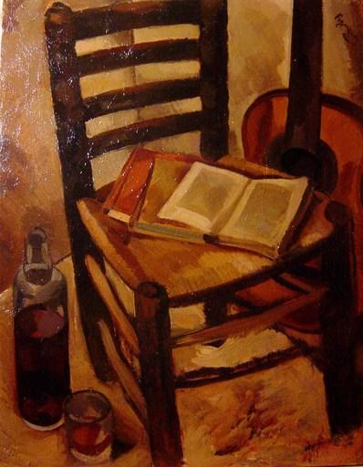 Alfred FIGUERAS - Gemälde - Nature morte à la guitare
