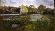 Albert Marie LEBOURG - Peinture - Les près au bord de l'Allier à Pont-du-Château