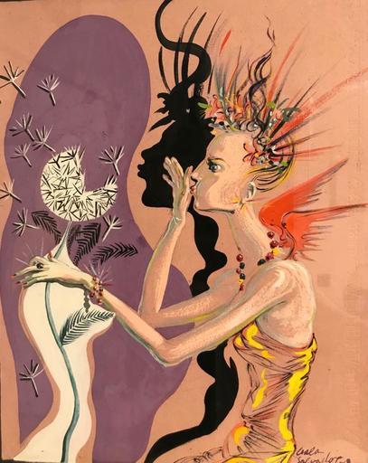 Salvador DALI - Painting - Le Mannequin