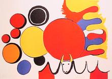 Alexander CALDER (1898-1976) - Taureau avec Spirale Rouge