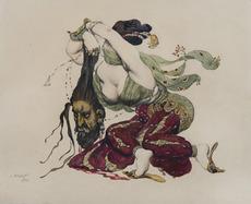 Léon BAKST - 绘画 - Judith et Holopherne
