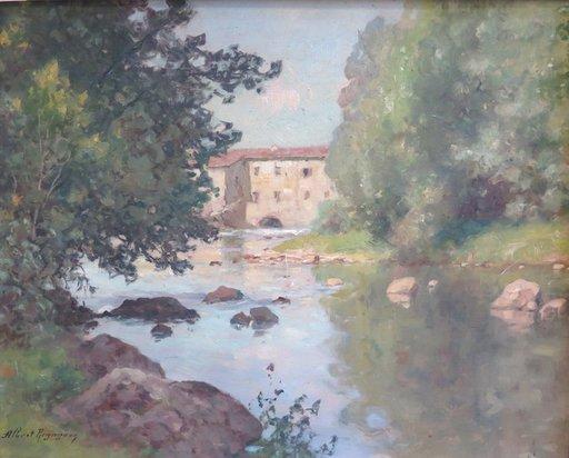 Albert REGAGNON - Painting - Le Salat aux environs de Santaraille