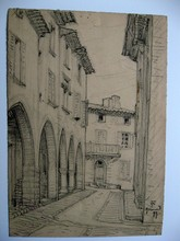 Auguste Victor FABRE - Drawing-Watercolor - GRIMAUD