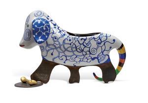 Niki DE SAINT-PHALLE - Skulptur Volumen - Chien vase