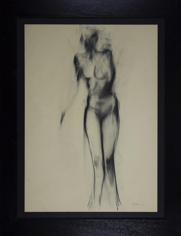 Giuseppe AJMONE - Drawing-Watercolor - Senza titolo
