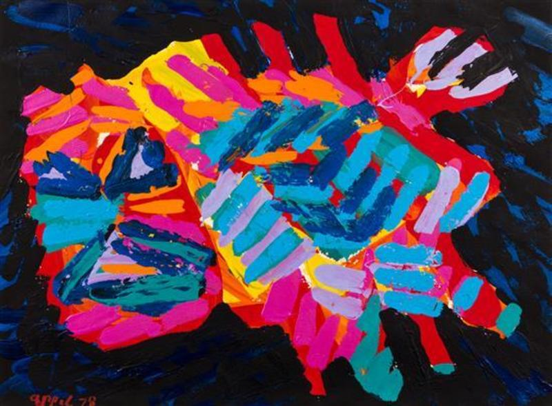 Karel APPEL - Pittura - Devil Cat