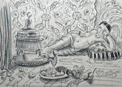 亨利·马蒂斯 - 版画 - Odalisque, Brasero et Coupe de Fruits