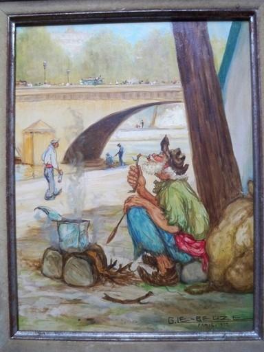 Gaston LE BEUZE - Painting - La Tambouille