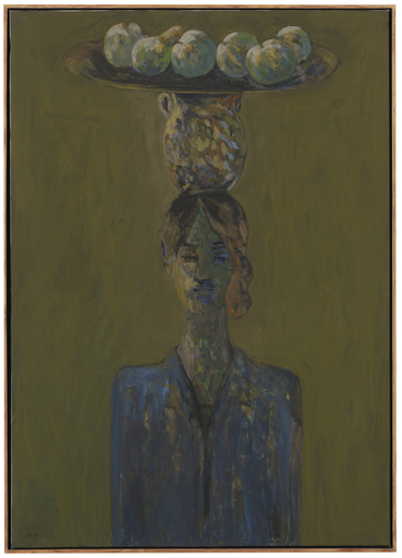 Elie ABRAHAMI - Pittura - Woman with Plate