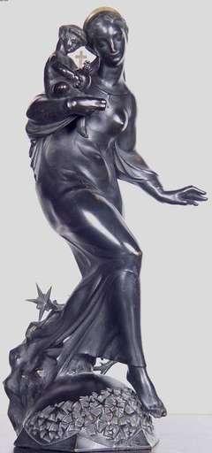Karl FIALA - Escultura - Jesus and Mary