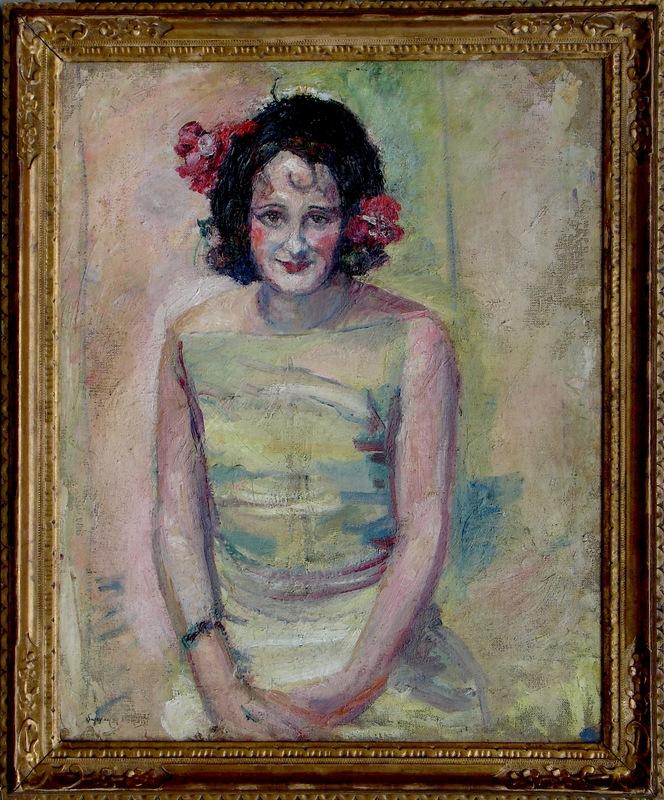 """Suzanne CAPPIELLO - Gemälde -  Mme.  Cappiello  """"Autoportrait """""""