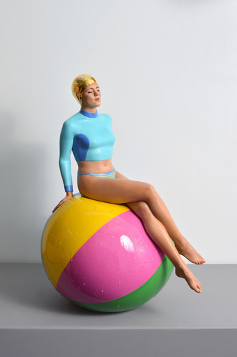 Carole FEUERMAN - Sculpture-Volume - Bibi on the Ball (Table-Top)