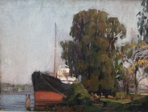Jean ARNAVIELLE - Painting - Bateau à quai