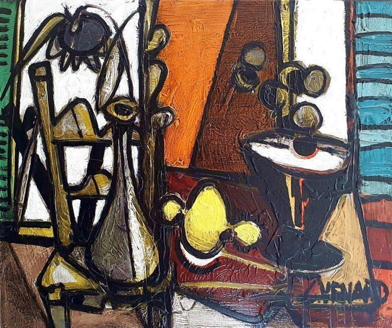 Claude VENARD - Pintura - Composition au Citron