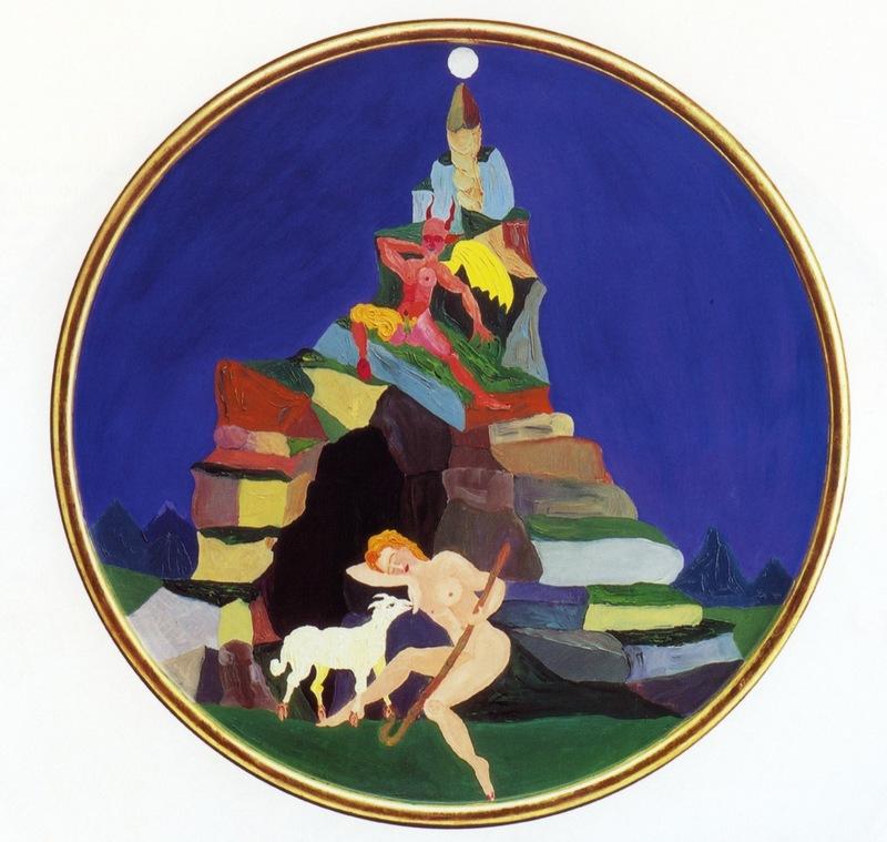 Luigi ONTANI - Gemälde - Endimione e Demonio