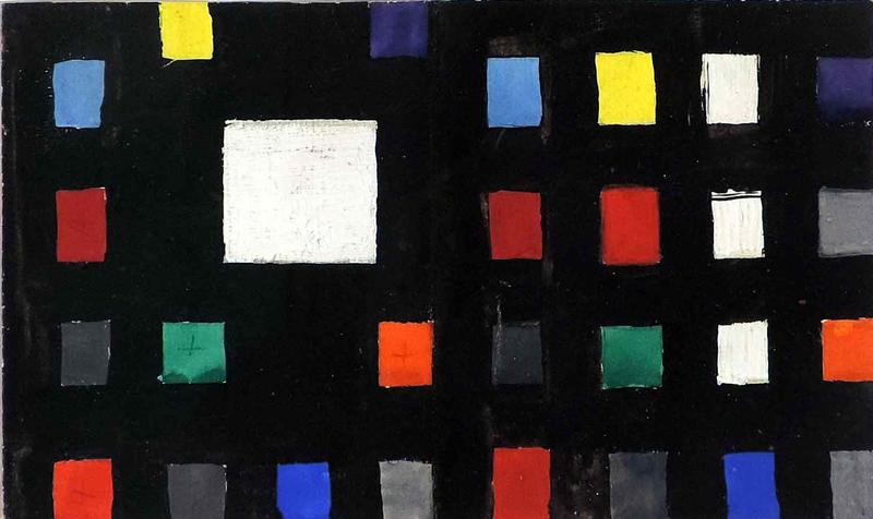 """Aurélie NEMOURS - Drawing-Watercolor - Grille-Nombre """"Re Rom 259"""""""