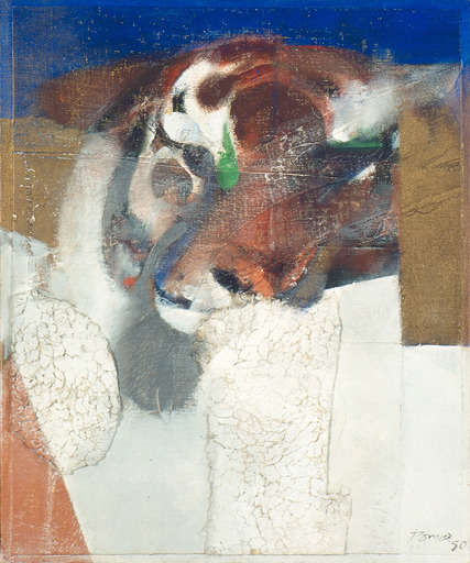 Júlio POMAR - Gemälde - Petite tête avec fourrure