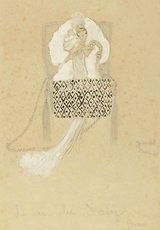 """Charles Carl GESMAR - Painting - """" Purse for the Evening"""""""