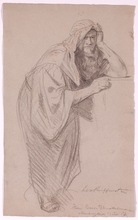 "Leo REIFFENSTEIN - Dessin-Aquarelle - ""Eastern Man"", 1887, Drawing"