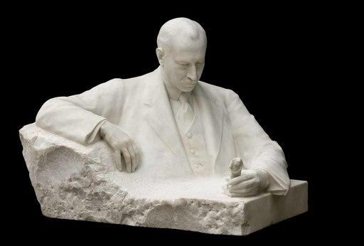 Maurice FAVRE - Skulptur Volumen - Ritratto di Heinrich Schliemann