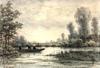 Theodor SOETERIK - Dessin-Aquarelle - Paysage