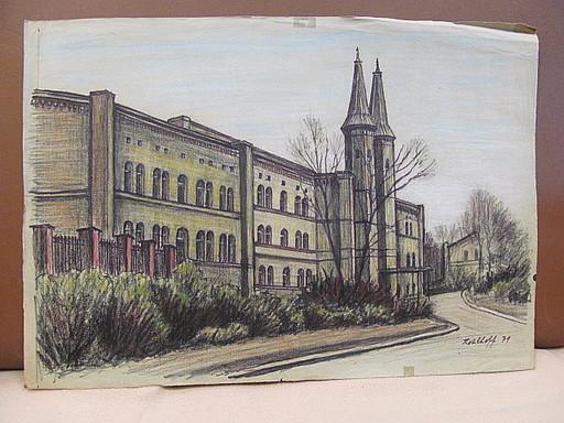 Walter KOHLHOFF - Disegno Acquarello - Bethanien am Mariannenplatz, Berlin