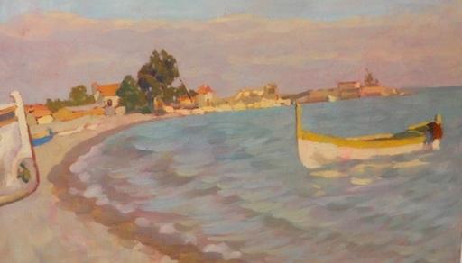 Attilio GUFFANTI - Gemälde - Barque sur la mer Méditerranée