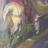 """Ulpiano CHECA Y SANZ - Gemälde - """"Regreso del guerrero"""""""