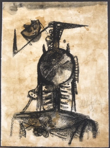 "Wifredo LAM - Estampe-Multiple - ""Les amies"""
