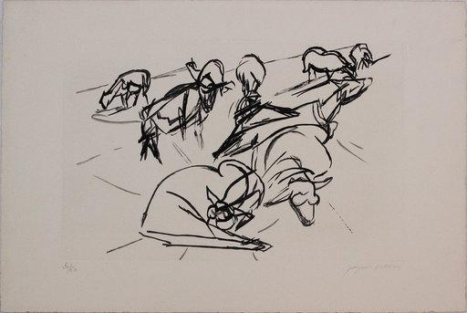 Jacques VILLON - 版画 -  Plate X dalla cartella 'Hesiode, Les Travaux et les Jours'