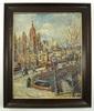 Gustav SCHRAEGLE - Painting - Frankfurt mit Paulskirche