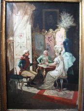 Eugenio LUCAS Y VILLAAMIL - Pintura - Escena de Casacón