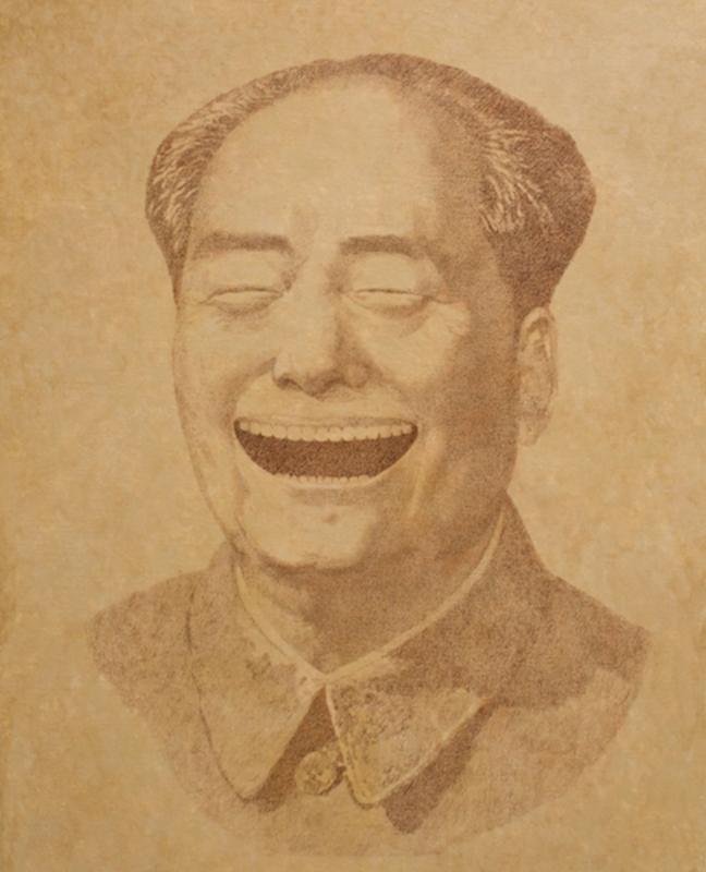 """Vladimir KOLESNIKOV - Painting - Mao. From the series """"Museum of Power"""""""