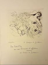 André Albert Marie DUNOYER DE SEGONZAC - Grabado - JEUNE FILLE EN FLEURS
