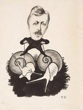 Félix VALLOTTON - Drawing-Watercolor - Portrait d'Emile Yung