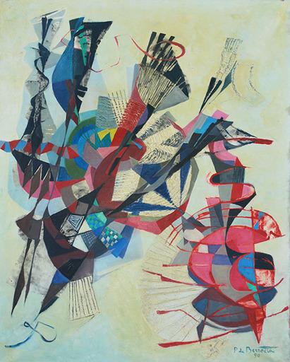 Pierre DE BERROETA - Pittura - Composition