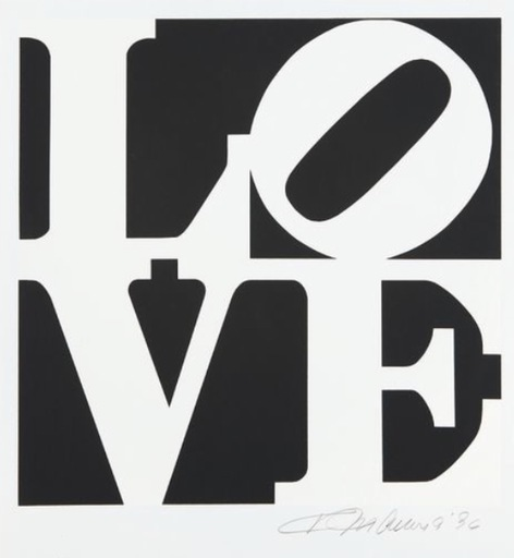 Robert INDIANA - Druckgrafik-Multiple - Love #12 (from the Book of Love)