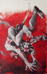 Vladimir VELICKOVIC - Pittura - Composition