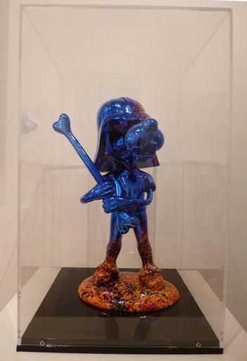 Michel SOUBEYRAND - Skulptur Volumen - Dog vador bleu