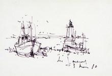 Daniel DU JANERAND (1919-1990) - '' Port en Bretagne ''