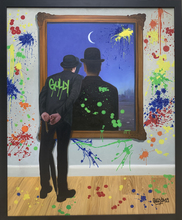 GULLY - Peinture - Gully meets Magritte