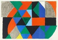 Sonia DELAUNAY-TERK - Estampe-Multiple - Composition horizontale