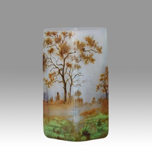 """DAUM FRÈRES - """"Autumn Landscape"""" by Daum Frères"""