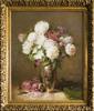 Emile Albert DE MANDRE - Gemälde - Vase with flowers