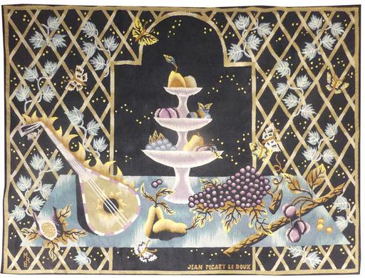 Jean PICART LE DOUX - Tapestry - Le compotier