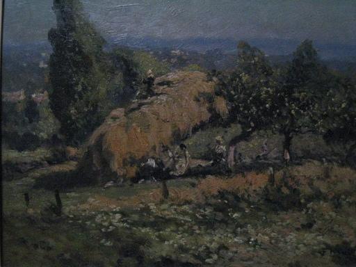 Fernand MAILLAUD - Peinture - CHARGEMENT DE L AVOINE PRES DE GUERET