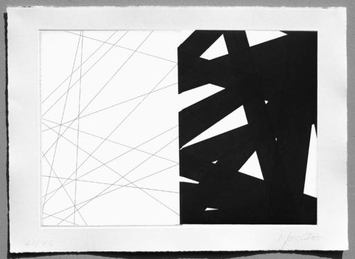 François MORELLET - Druckgrafik-Multiple - π Striptyque