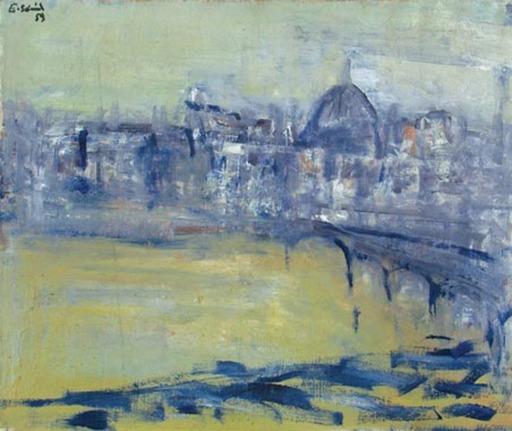 Erich SCHMID - Pintura - Seine in Paris