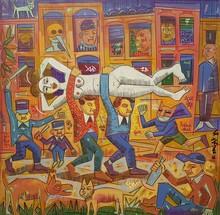 Ronaldo ENRIGHT - Painting - los ladrones
