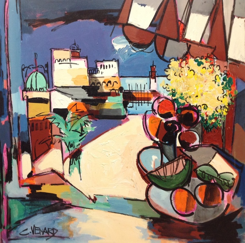 Claude VENARD - Painting - Le port de Sanary